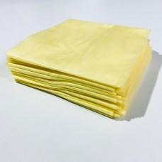 Простыни SMS эконом 70х200см жёлтые 20 шт/уп (штучно)