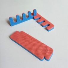 Разделители для пальцев ног цветные  25 пар/уп