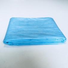 Простыни ламинированный спанбонд 80х200см голубые 10 шт/уп