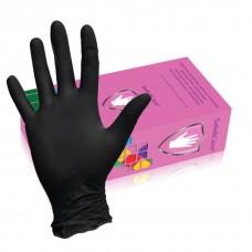 Перчатки нитриловые чёрные размер S 50пар/уп